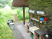 Campers' kitchen