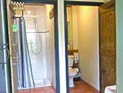 Campers' shower and toilet